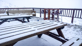 Ski table Stock Images