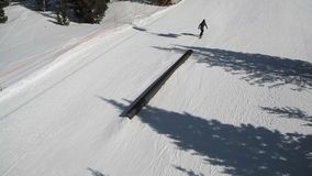 Ski Terrain Park Grind stock footage