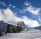 Ski in the top of Alps. Ski in winter in the top of Alps, Italy Stock Photo