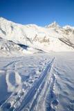 Ski tour paradise Royalty Free Stock Image