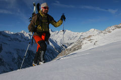 Ski touring Royalty Free Stock Photos