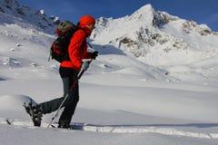 Ski touring Royalty Free Stock Images