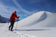 Ski touring Royalty Free Stock Image