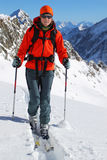 Ski touring Royalty Free Stock Photo