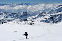 Ski touring. In the Alps Stock Image
