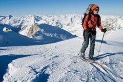 Ski Touring Royalty Free Stock Photography