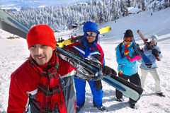 Ski touring Royalty Free Stock Image