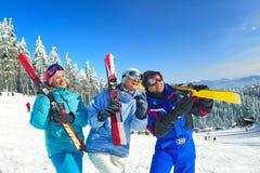 Ski touring Stock Images