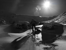 Ski Touring lizenzfreie stockbilder