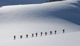 Ski touring Stock Images