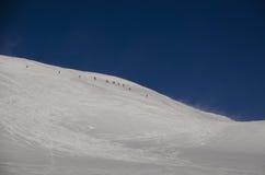 Ski Touring in Alps Stock Photos