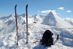 Ski touring equipment Stock Images