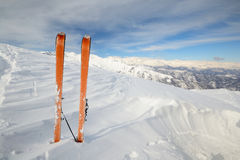 Ski touring exploration Stock Images
