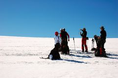 Ski touring group Royalty Free Stock Image