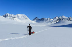 Ski touring in Lapland Stock Photo