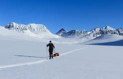 Ski touring in Lapland stock photo