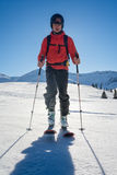 ski touring in the mountains Stock Images