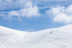 Ski touring Stock Photos