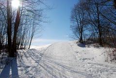 Ski touring track Royalty Free Stock Image