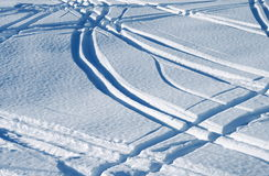 Ski trace Royalty Free Stock Photography