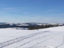 Winter landscape in the Erzgebirge royalty free stock photography