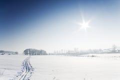Ski track Stock Photo