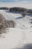 Ski track Royalty Free Stock Photos