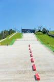 Ski track. Alternative ski track on a sunny day at the Malta park in Poznan, Poland Royalty Free Stock Images
