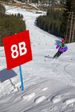 Ski track of Bukovel resort, Carpathians, Ukraine Stock Photo