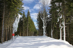Ski track of Bukovel resort, Ukraine Stock Photography