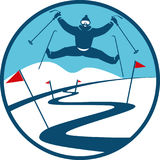 Ski Track Logo Lizenzfreies Stockbild