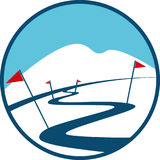 Ski Track Logo Stockbild