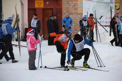 All-Russian mass ski race Ski Russia. Sports holiday for anyone stock photography