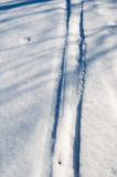 Ski track with shadows Royalty Free Stock Photography