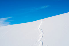 Ski track Royalty Free Stock Photo