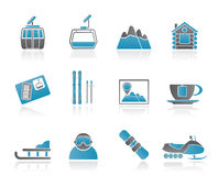 Ski Track and sport icons Stock Photography