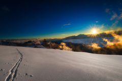 Ski track Royalty Free Stock Photography