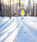 Ski track Royalty Free Stock Photography