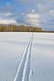 Ski track Stock Photos