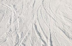 Ski Tracks Royalty Free Stock Photos