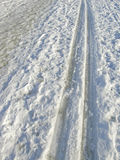 Ski tracks Royalty Free Stock Images