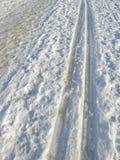 Ski tracks royalty free stock images