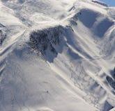 Ski Tracks Stock Photos