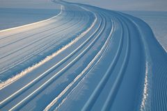 Ski Tracks Fotos de Stock