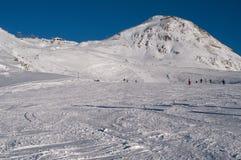 Ski Tracks frankreich Lizenzfreies Stockfoto