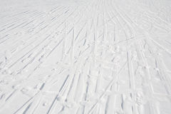 Ski tracks Stock Images