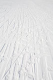 Ski tracks Royalty Free Stock Photography