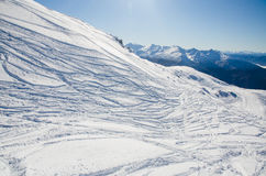 Ski tracks Royalty Free Stock Photo