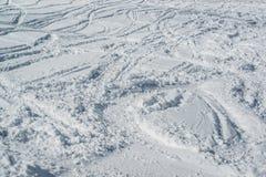 Ski tracks Stock Images