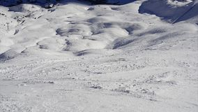 Ski tracks stock footage